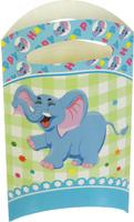Купить Страна Карнавалия Пакет подарочный Слоник голубой цвет 14 x 24 см 6 шт 1652843, Подарочная упаковка