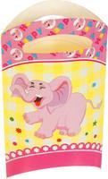 Купить Страна Карнавалия Пакет подарочный Слоник розовый цвет 14 x 24 см 6 шт 1652844, Подарочная упаковка