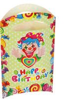 Купить Страна Карнавалия Пакет подарочный Клоун с сердцем 14 x 24 см 6 шт 1652845, Подарочная упаковка