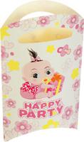 Купить Страна Карнавалия Пакет подарочный Карапуз розовый цвет 14 x 24 см 6 шт 1652849, Подарочная упаковка