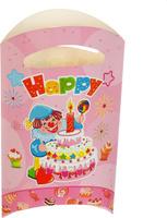 Купить Страна Карнавалия Пакет подарочный Клоун с тортом цвет розовый 14 x 24 см 6 шт 1652852, Подарочная упаковка