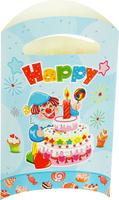 Купить Страна Карнавалия Пакет подарочный Клоун с тортом цвет голубой 14 x 24 см 6 шт 1652853, Подарочная упаковка