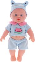 Купить S+S Toys Пупс озвученный цвет одежды голубой 34 см, Куклы и аксессуары