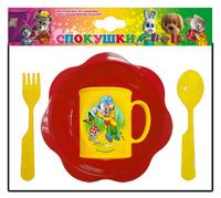 Купить Набор детской посуды Хрюша с мухомором 4 предмета, Детская посуда и приборы