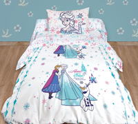 Купить Комплект белья детский Disney , 1, 5-спальный, наволочки 70x70, цвет: белый, Постельное белье