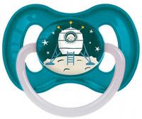 Купить Canpol Babies Пустышка латексная Space от 6 до 18 месяцев цвет бирюзовый, Пустышки