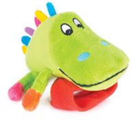 Купить Happy Snail Игрушка-погремушка на руку Крокодил Кроко, Первые игрушки