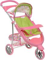 Купить Bon Bon Berry Трехколесная коляска для кукол цвет розовый, Куклы и аксессуары