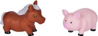 Купить Жирафики Набор игрушек для ванной Лошадка и свинка, Первые игрушки