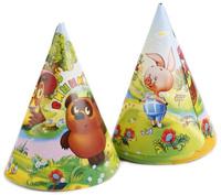 Купить Веселый праздник Набор колпаков Винни Пух 6 шт, Колпаки и шляпы