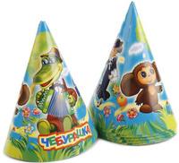 Купить Веселый праздник Набор колпаков Чебурашка 6 шт, Колпаки и шляпы