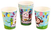 Купить Веселый праздник Набор стаканов Лунтик 6 шт, Сервировка праздничного стола