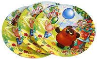 Купить Веселый праздник Набор тарелок Винни Пух 18 см 6 шт, Сервировка праздничного стола