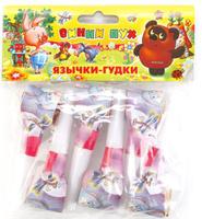 Купить Веселый праздник Набор язычков-гудков Винни Пух 6 шт, Аксессуары для детского праздника