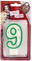 Купить Веселый праздник Свеча для торта Ever After High Цифра 9, Сервировка праздничного стола