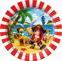 Купить Пати Бум Набор тарелок Веселый Пират 6 шт, Сервировка праздничного стола