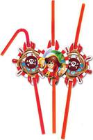 Купить Пати Бум Набор трубочек Веселый Пират 6 шт, Сервировка праздничного стола