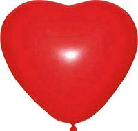 Купить Шарик воздушный Сердце цвет вишневый 25 шт, Воздушные шарики
