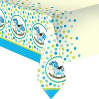 Купить Пати Бум Скатерть Лошадка Малыш цвет голубой 140 х 180 см, Сервировка праздничного стола