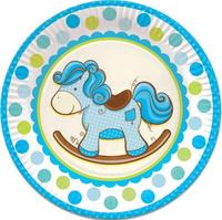 Купить Пати Бум Тарелка Лошадка цвет голубой 23 см 6 шт, Сервировка праздничного стола