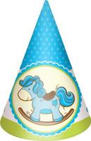 Купить Пати Бум Колпак Лошадка Малыш цвет голубой 6 шт, Сервировка праздничного стола