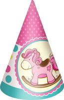 Купить Пати Бум Колпак Лошадка Малыш цвет розовый 6 шт, Сервировка праздничного стола