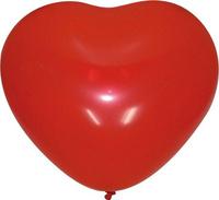 Купить Шарик воздушный Сердце цвет вишневый 50 шт, Воздушные шарики