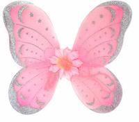 Купить Новогодняя сказка Крылья карнавальные Бабочка цвет розовый 972578, Аксессуары для детского праздника