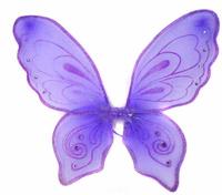 Купить Новогодняя сказка Крылья карнавальные Бабочка цвет фиолетовый 972579, Аксессуары для детского праздника