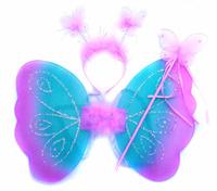 Купить Новогодняя сказка Карнавальный костюм для девочки Бабочка цвет голубой 973109, Карнавальные костюмы и аксессуары