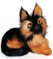Купить Vebtoy Фигурка Немецкая овчарка лежачая цвет черный коричневый D571, Фигурки