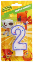 Купить Веселый праздник Свеча для торта Ми-ми-мишки Цифра 2, Сервировка праздничного стола