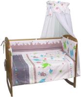 Купить Polini Комплект белья для новорожденных Монстрики 7 предметов 1216, Постельное белье