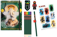 Купить LEGO NINJAGO Набор канцелярских принадлежностей 12 предметов 51890, IQ Hong Kong Limited, Канцелярские наборы