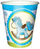 Купить Пати Бум Стакан бумажный Лошадка Малыш цвет голубой 250 мл 6 шт, Сервировка праздничного стола