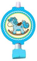 Купить Пати Бум Язык-гудок с карточкой Лошадка цвет голубой 6 шт, Сервировка праздничного стола