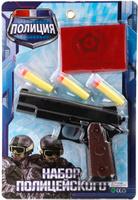 Купить Играем вместе Пистолет Полиция с мягкими патронами, Игрушечное оружие