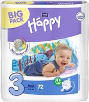 Купить Bella Подгузники для детей Baby Happy размер Midi 3 5-9 кг 72 шт, Bella baby Happy, Подгузники и пеленки