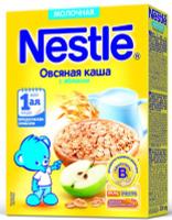 Купить Nestle Овсяная Яблоко каша молочная, 220 г, Детское питание