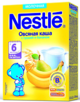 Купить Nestle Овсяная Груша Банан каша молочная, 220 г, Детское питание