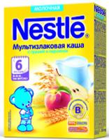 Купить Nestle мультизлаковая с грушей и персиком каша молочная, 220 г, Детское питание