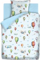 Купить Комплект белья Непоседа Аэропланы , 1, 5-спальный, наволочки 70x70, цвет: голубой, Постельное белье
