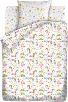 Купить Комплект белья Непоседа Единороги , 1, 5-спальный, наволочки 70x70, цвет: белый, Постельное белье