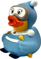 Купить Funny Ducks Игрушка для ванной Уточка Лыжница цвет голубой, Первые игрушки