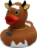 Купить Funny Ducks Игрушка для ванной Уточка Корова цвет коричневый, Первые игрушки
