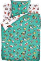 Купить Комплект белья Непоседа Космик , 1, 5-спальный, наволочки 70x70, цвет: бирюзовый, Постельное белье