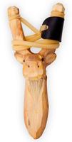 Купить Рогатка офисная Woodsurf Лось , цвет: желтый, Рогатки