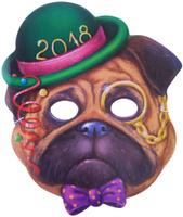 Купить Маска карнавальная Мопс в шляпе , 23, 8 х 28, 1 см, Noname, Маски карнавальные