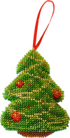 Купить Набор для вышивания бисером Созвездие Новогодняя игрушка. Елочка , 7 х 9, 5 см, Игрушки своими руками