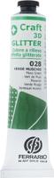 Купить Ferrario рельефный контур цвет глиттер №28 зеленый мускус, Краски